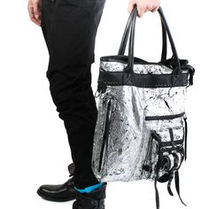 KMRii Silver Foil Tote – FIVE AND DIAMOND