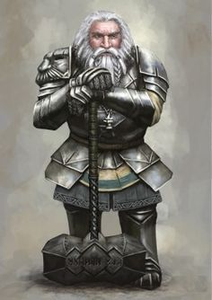 haaaaaaaaave-you-met-ted:  Old Dwarven Paladin by Seraph777