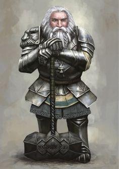 haaaaaaaaave-you-met-ted:  Old Dwarven Paladin by Seraph777