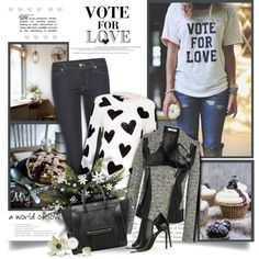 How To Wear Vote For Love Outfit Idea 2017 - Fashion Trends Ready To Wear For Plus Size, Curvy Women Over 20, 30, 40, 50