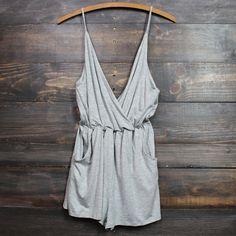 perfect summer romper in grey