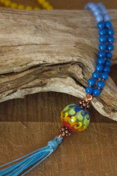 Mala Beads Meditation Necklace Prayer Beads by BohoJunction, $59.00