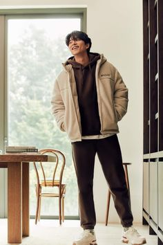 Yoo Gong, Coffee Prince, Discovery Channel, Raincoat, Bomber Jacket, Bring It On, Handsome, Winter Jackets, Celebs