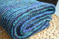 Blue black striped wool and chenille throw blanket, handmade wool afghan, hand spun & hand dyed wool blanket, 5 ft x ft, boho blanket Chenille Blanket, Sheep Wool, Hand Spinning, Handmade Art, Black Stripes, Hand Knitting, Knitted Hats, Blankets, Cozy