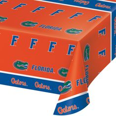 Univ of Florida 54 x 108 Plastic Tablecover/Case of 12 Tags: University of Florida; Tablecover; Collegiate; University of Florida Tablecover;University of Florida party tableware; https://www.ktsupply.com/products/32786326420/Univ-of-Florida-54-x-108-Plastic-TablecoverCase-of-12.html