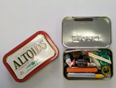 Altoids Tin Survival Kit - I'll be putting 4 of these together soon for each of my family members to have with them as and EDC item.