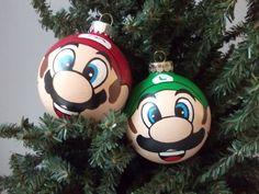 Super Mario AND Luigi ornaments! #videogame #geek #gift