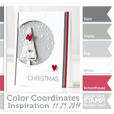 Color Coordinates by Shari Carroll for Simon Says Stamp.
