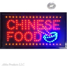 "Large 24x13"" Bright Chinese Food Noodles LED Open Store Shop Buffet Sign neon  #AhhaProducts"
