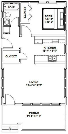 Details about 2010 Tiny House 266 sq ft PDF Floor Plan Model The Plan, How To Plan, Tiny House Cabin, Tiny House Living, Tiny Houses, Small Room Design, Tiny House Design, Small House Floor Plans, Apartment Floor Plans