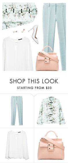 """Summer to Fall Office Style"" by kearalachelle ❤ liked on Polyvore featuring 3.1 Phillip Lim, MANGO, Roger Vivier and Manolo Blahnik"