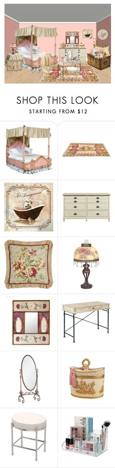 """Shabby Chic"" by bamasbabes on Polyvore featuring interior, interiors, interior design, home, home decor, interior decorating, Sherry Kline, Dale Tiffany, NOVICA and Southern Enterprises"