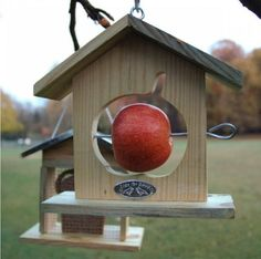 Above: The Apple Cottage is a bird feeder that requires an apple but no seeds; €4.95. To vary birds' diet, consider a Bread Bird Feeder ($7.... A possible DIY?~