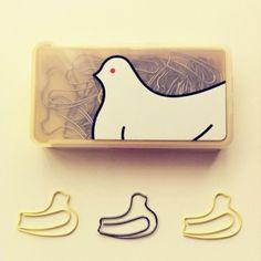 鳩サブレー型のクリップ 豊島屋で売ってます。 designed from http://www.hato.co.jp/hato/shohin.html