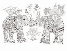 Elephant Adult Coloring Pages . Elephant Adult Coloring Pages . World Elephant Day Elephants Adult Coloring Pages Adult Coloring Pages, Zoo Animal Coloring Pages, Superhero Coloring Pages, Elephant Coloring Page, Heart Coloring Pages, Horse Coloring Pages, Fairy Coloring Pages, Dog Coloring Page, Easter Coloring Pages