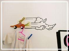 Custom-made cartoon speed cloud wall drawing