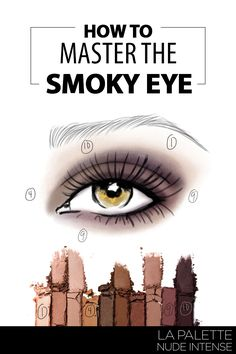 Learn how-to get a sultry, smokey look with this step-by-step instructional guide and La Palette Nude Intense eyeshadow in goldens, browns and purple colors.