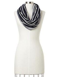 Stripe terry infinity scarf