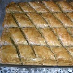 Easy Baklava Recipe. Makes me think of trips to Greek Town in Detroit with my kids when they were small. Love this stuff!