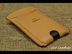 how to make a simple leather case for mobile phone - YouTube