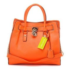Michael Kors Hamilton Smooth Outlook Large Orange Tote [MK0000000217] - $67.99 : Michael Kors - The official site and online store.