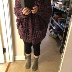 The Dwell Sweater Crochet pattern by Jess Coppom Make & Do Crew Christmas Knitting Patterns, Crochet Patterns, Weekender, Fast Crochet, Crochet Hats, Make And Do Crew, Universal Yarn, Baby Scarf, Chunky Cardigan