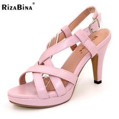 RizaBina Size32-43 Women's High Heel Sandals Gladiator Shoes Women Lady Sexy Platform Sandals Heels Summer Shoes Sandals PA00905 #Affiliate