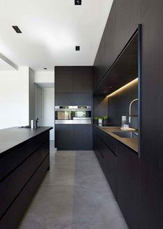 Grey Kitchen Designs, Kitchen Room Design, Kitchen Cabinet Design, Modern Kitchen Design, Home Decor Kitchen, Interior Design Kitchen, New Kitchen, Kitchen Ideas, Modern Grey Kitchen