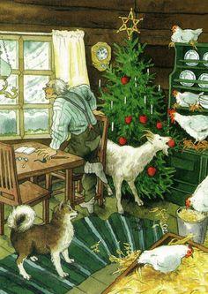 Groothandel Postkaarten van Inge Look number 208 Illustration Noel, Christmas Illustration, Noel Christmas, Vintage Christmas Cards, Country Christmas, Xmas, Yule, Aho Girl, Dibujos Cute