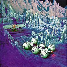 Retro-Futuristic, moon, space age, 1964 ... lunar rover! moon colony