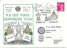 Just 24 hours to go!!! FA Cup Final Centenary Year Arsenal V Leeds 6th May 1972 signed by Jack Charlton