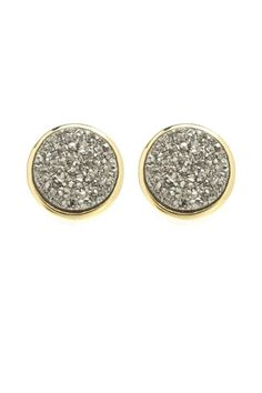 We adore these 10mm dark silver drusy studs with a smooth and shiny plated finish. The large smooth back and post is just right for comfort. Druzy stones and gold plated.   Titanium Druzy Studs by Gemma Collection. Accessories - Jewelry - Earrings Dallas, Texas