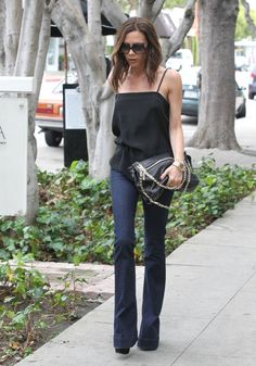 With her minimalist style, Victoria Beckham can make a basic pair of blue jeans look ultra chic.