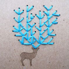 DIY Embroidery Oh Deer Pocket Notebook Set of 2 by CuriousDoodles
