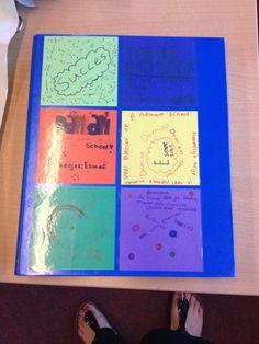 Afscheid kind, map met briefjes van de klas en vriendenboekje in de map Kind, Office Supplies, School