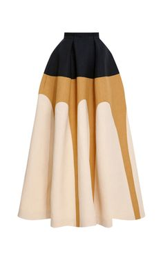 Tri-Tone Full Skirt by DELPOZO for Preorder on Moda Operandi