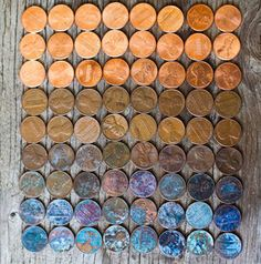 Penny patina colors.