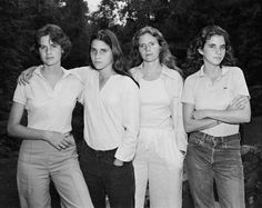 "1975, New Canaan, Conn. The Brown sisters, photographer, Nicholas Nixon. ""40 Portraits in 40 Years""."