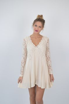 Ivory Lace Boho Dress | Foi Clothing | Beautifully Boho | Perfect for EVERY Occasion | Bridal Shower Dress | Rehearsal Dinner Dress | Festival Wear | Things We LOVE | Spring and Summer Fashion | Women's Boutique | Lace Details | Check Out The Back On Foiclothing.com | Back Details | LWD |