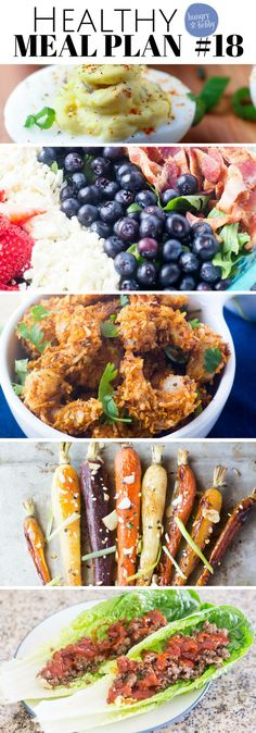 This week's gluten-free meal plan features healthy recipes made in 20 minutes or less! Plus, a make ahead breakfast favorite! via @hungryhobby Gluten Free Meal Plan, Free Meal Plans, Gluten Free Recipes, Gourmet Recipes, Diet Recipes, Healthy Recipes, Spicy Recipes, Easy Recipes, Healthy Meals For Two