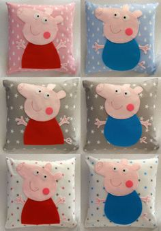 Peppa-pig-George-pig-pillow-and-cushion-cover-baby-gift-handmade-kids-cotton