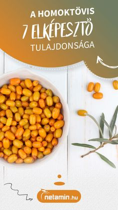 Tudtad? Átlagosan 695 mg C-vitamin van tíz deka homoktövis bogyóban. Miért ajánlott gyomorbántalmakra, hogyan hat a bőrre? Ismerd meg a homoktövist! #homoktövis #gyógynövény #netamin Chana Masala, Cantaloupe, Herbs, Fruit, Healthy, Ethnic Recipes, Live, Food, Therapy