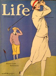 Life Magazine Sep 1926 Lady Golfer Cover