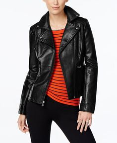 109.99$  Buy here - http://viubo.justgood.pw/vig/item.php?t=i45hr457390 - Asymmetrical-Zip Faux-Leather Moto Jacket