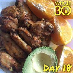 """""""Leftovers make the best breakfasts: chicken wings, avocado, and an orange  #whole30 #whole100 #CTLTwhole100 #whole30homies #2015IGwhole30 #eatrealfood #cleaneating #jerf #healthy #mealideas #paleo #recipe #blog #considertheleafTURNED #day18"""" Photo taken by @considertheleafturned on Instagram, pinned via the InstaPin iOS App! http://www.instapinapp.com (01/15/2015)"""