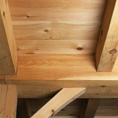 Timbered Ceiling and Wide Ceiling Boards New England Homes, New England Style, New Homes, Timber Ceiling, Floor Ceiling, Next At Home, Bamboo Cutting Board, Apartment Ideas, Beams