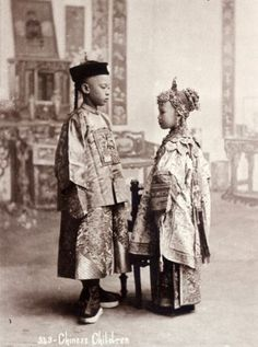 thetravelsofching:  Vintage photograph of Chinese children