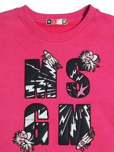 MSGM - 로고 패치 COTTON 스웨터 - LUISAVIAROMA - 럭셔리 쇼핑 세계적인 해운 - 피렌체