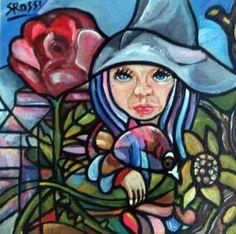 "Saatchi Art Artist Sandra Viviana Rossi; Painting, ""NuevosNuevos tiempos de siembra para Rose."" #art"