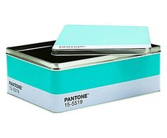 REVOLUCIÓN CREATIVA: Set de 2 cajas de metal PANTONE® 15-5519 - turquesa